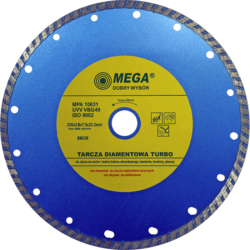 Mega Dimanta disks BTR 230x22mm turbo