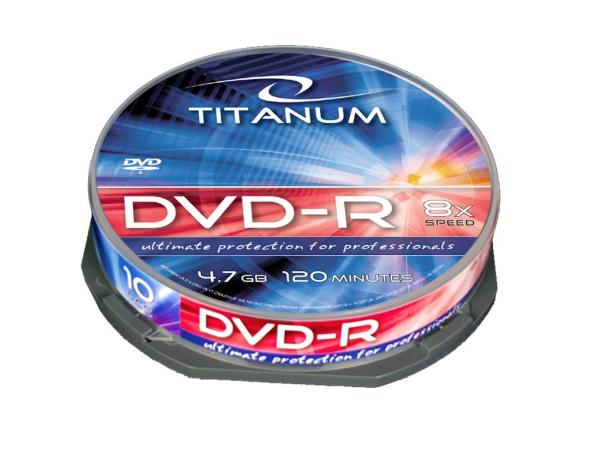 DVD-R TITANUM [ cake box 10 | 4.7GB | 8x ] matricas