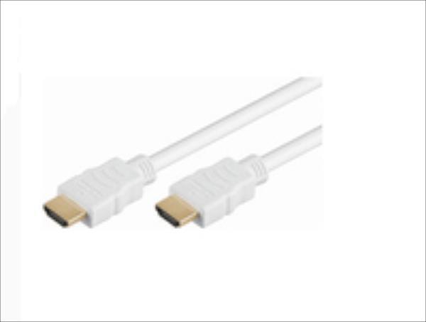 MicroConnect  HDMI v1.4 19 -19 1.5m M-M White Gold Plugs 4120x2160P kabelis video, audio