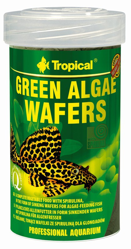 Tropical Green Algae Wafers 100ml zivju barība