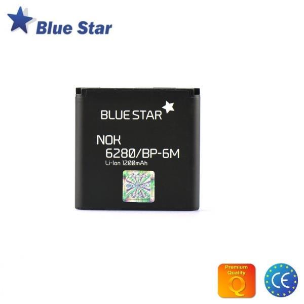 BlueStar Akumulators Nokia 9300 3250 6280 N73 N93 Li-Ion 1200 mAh Analogs BP-6M aksesuārs mobilajiem telefoniem
