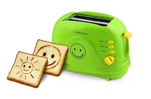 Esperanza EKT003 toaster SMILEY 3 IN 1 - GREEN Tosteris