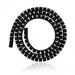 4World Cable Organizer SMART SNAKE - diameter 34mm, length 1.5m, black kabelis, vads