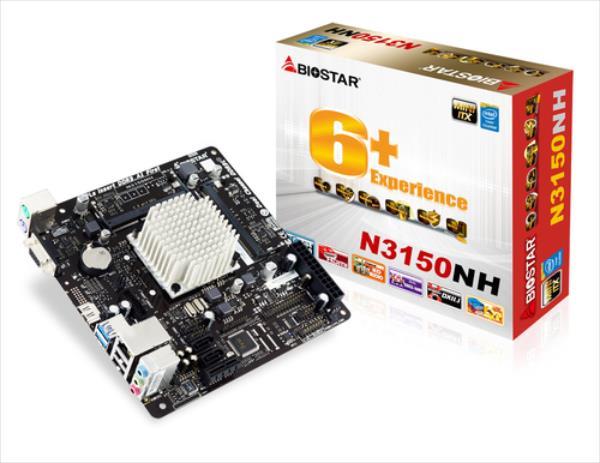 Biostar N3150NH, Celeron N3150, DDR3, SATA3, USB 3.0, Mini-ITX pamatplate, mātesplate