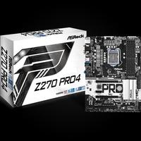 ASRock Z270 Pro4, Intel Z270 Mainboard - Socket 1151 pamatplate, mātesplate