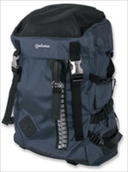 Manhattan Zippack notebook computer backpack up to 15,6'' blue/black portatīvo datoru soma, apvalks