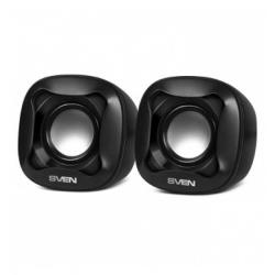 SVEN 170, 2.0 speakers,  black, USB, power output 2x2.5W (RMS) datoru skaļruņi