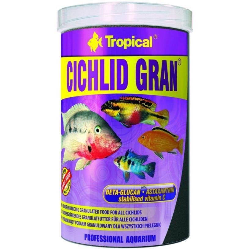 Tropical Cichlid Gran 1000ml zivju barība