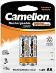 Camelion Rechargeable Batteries Ni-MH 2x AA (R06) 2500mAh + Battery case Baterija