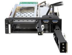 Delock Mobile Rack for 2,5''+   3,5'' SATA HDD+2xUSB 3. cietā diska korpuss