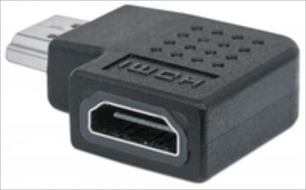 Manhattan HDMI Adapter, HDMI A to HDMI A, M/F, right 90  angle
