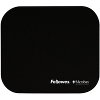 FELLOWES MOUSEPAD WITH MICROBAN BLACK peles paliknis