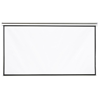 4World Wall mount projection screen 221x124 (100'',16:9) Matt White ekrāns projektoram