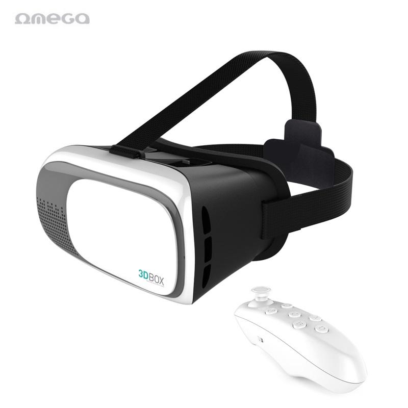 Omega OGVR3DRC Universālas 4.5-6'' Viedtālrunim Virtuālās Realitātes VR Brilles ar Vadības pulti Baltas