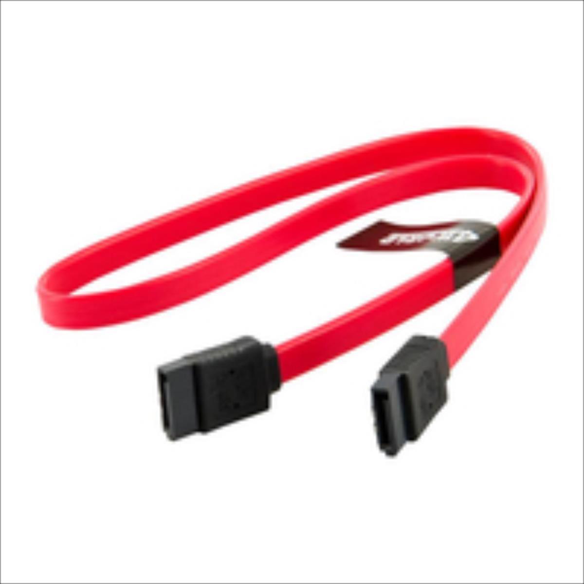 4World HDD Cable | SATA 3 | SATA | 45cm | latching | red kabelis datoram