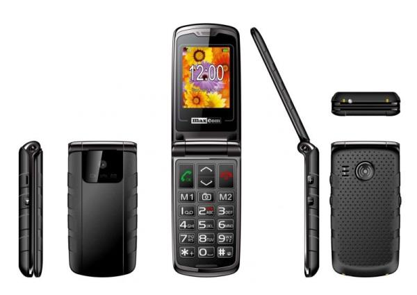 MaxCom MM822BB, Phone GSM, Senior Phone, Black Mobilais Telefons