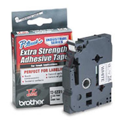 Tape Brother 12mm BLACK ON WHITE ADHESIVE TAPE biroja tehnikas aksesuāri