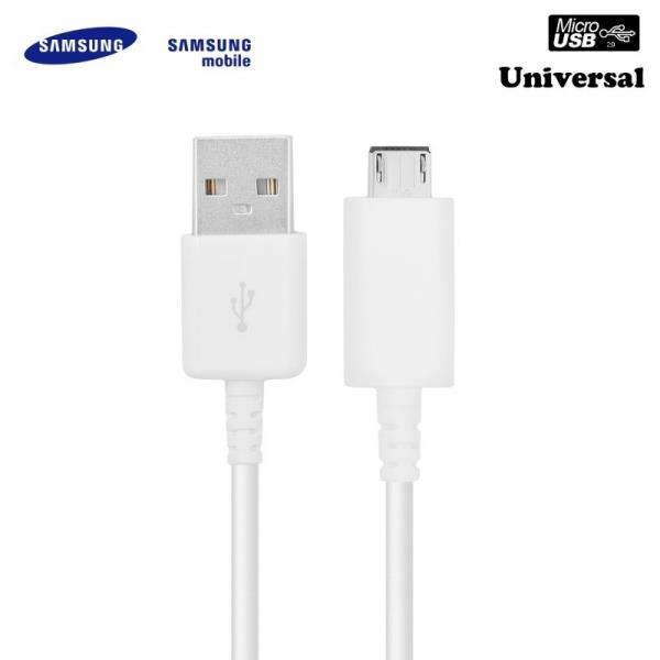 Samsung EP-DG925UWE G920 G925 S6 Universāls Micro USB Datu un Uzlādes Kabelis Balts (OEM) aksesuārs mobilajiem telefoniem