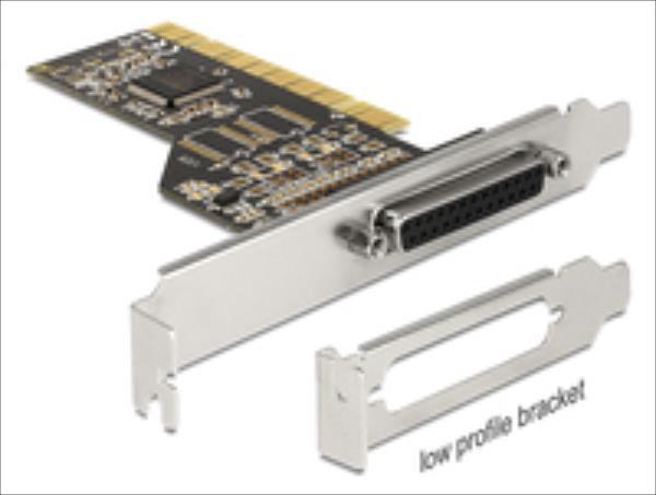 Delock PCI Card Delock 1x D-Sub25 ext +LowProfile karte