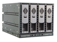 Chieftec SST-3141SAS 3x5.25inch bays for 4 SAS or SATA HDDs, Hot-Swap, Aluminium cietā diska korpuss
