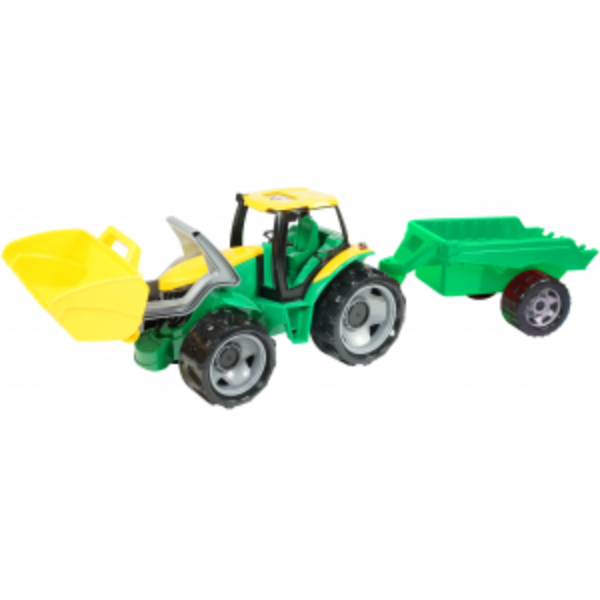 Lena Traktors ar piekabi LENA Maxi (kastē) Rotaļu auto un modeļi