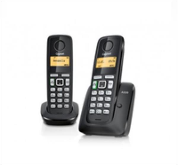 GIGASET PHONE DECT A220 DUO BLACK telefons