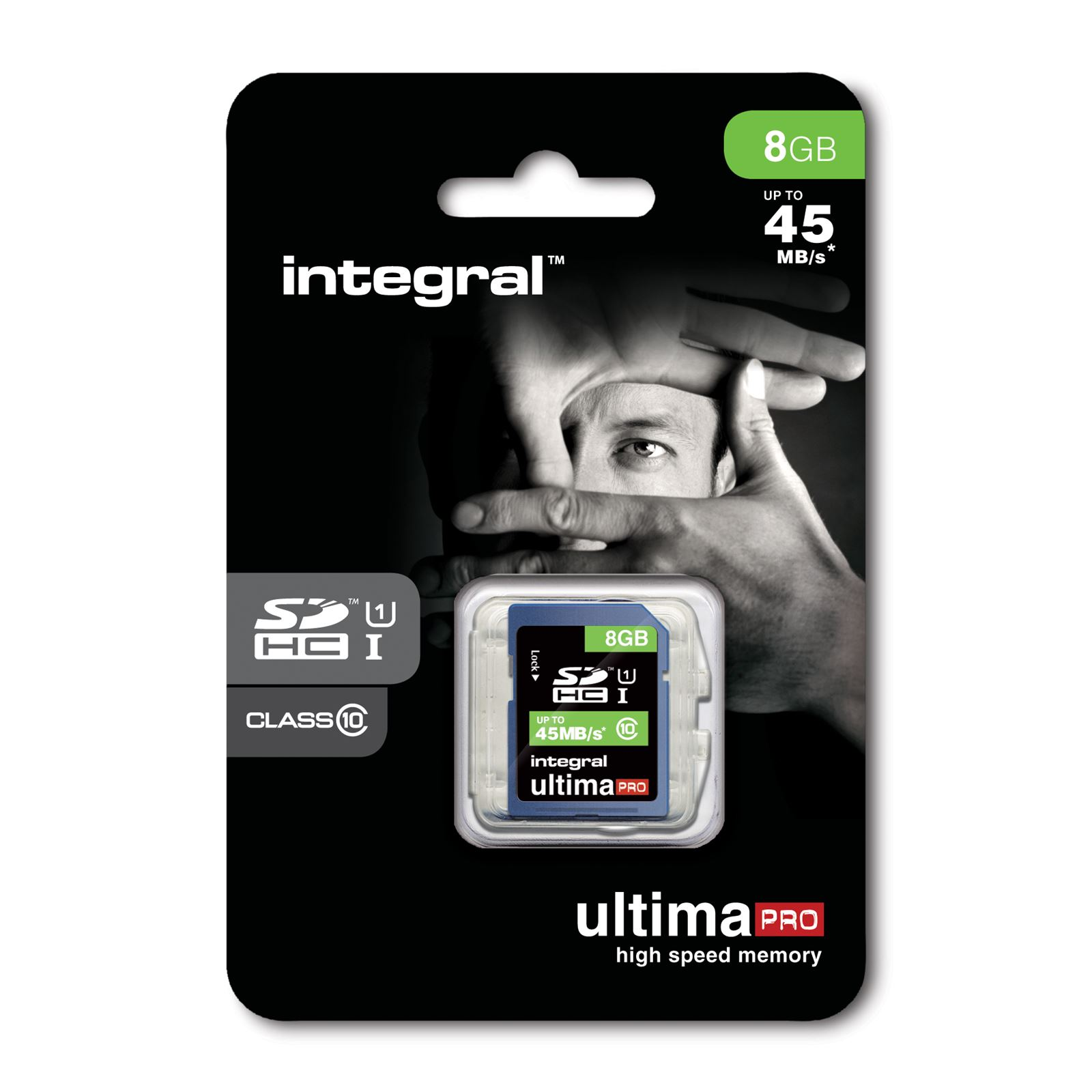 Integral SDHC Ultima PRO 8GB CL10 (up to 80MB/s) atmiņas karte