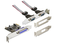 Delock PCI Express card 2 x serial, 1 x parallel karte