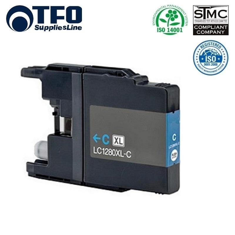 TFO Brother LC1280XL-C (LC-1280XLC) Zils Tintes kārtridžs 19ml MFC-J5910DW uc. HQ Premium Analogs