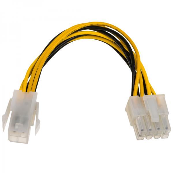 AKYGA Power cable P4 4-pin F/P8 8-pin M AK-CA-10 kabelis datoram