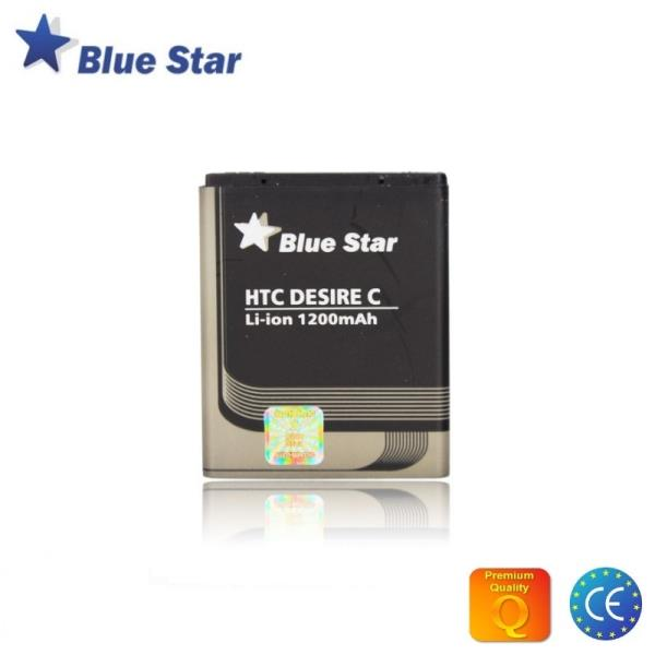 BlueStar Akumulators HTC Desire C A320E Li-Ion 1200 mAh Analogs BA S850 aksesuārs mobilajiem telefoniem