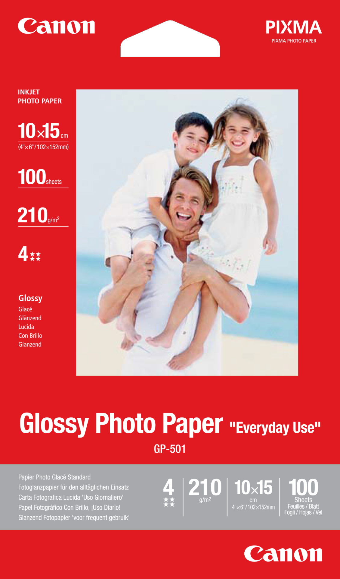CANON GP-501 photo paper 10x15 100Sheet foto papīrs