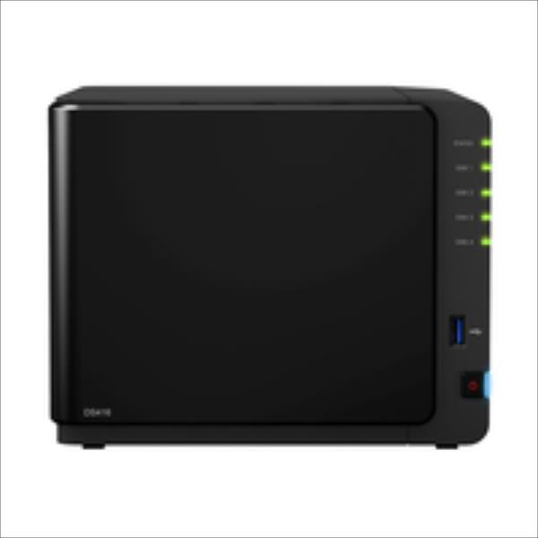 Synology DS416, 4-Bay SATA 3, 1,33GHz, 1GB, 2xGbE LAN, 2xUSB3, 1xUSB2 Ārējais cietais disks
