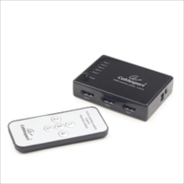 HDMI Switch Gembird 5 Input -> 1 Output 4k +Fernbed. komutators