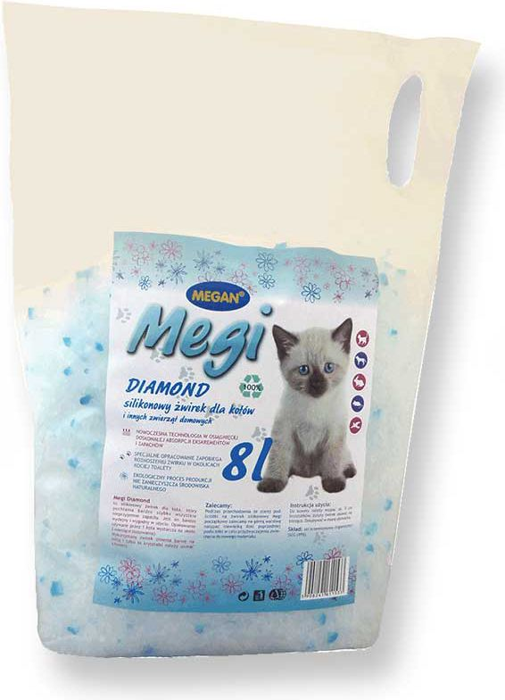 Megan Medi Diamond silikon 8l piederumi kaķiem