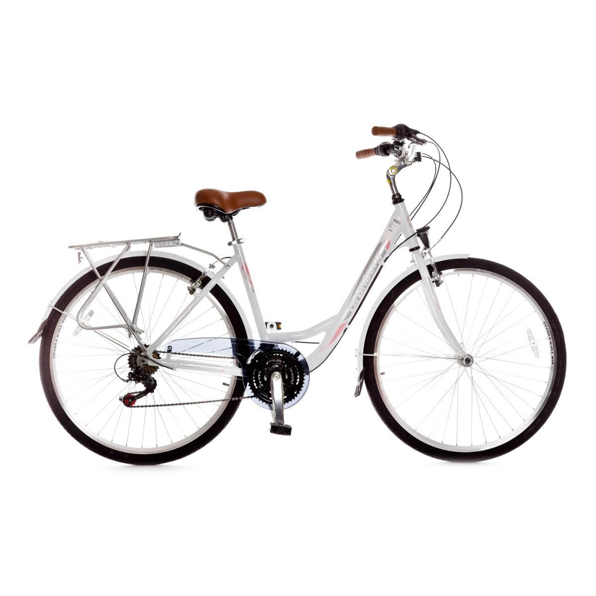 Rambler 21sp W's White/pink 44CM Rambler Pilsētas velosipēds