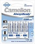 Camelion AlwaysReady Rechargeable Batteries Ni-MH (R06) 4x AA 2300mAh Baterija