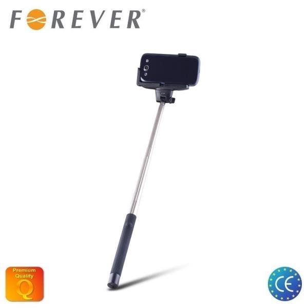Forever MP-100 Bluetooth Selfie Stick 100cm - universāla stiprinājuma statīvs ar iebūvētu Pulti
