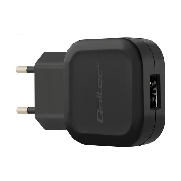 Qoltec AC adapter for Smartphone / Tablet | 12W | 5V | 2.4A | USB + USB typC iekārtas lādētājs