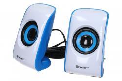 Speakers 2+0 TRACER CHRONOS w/b USB datoru skaļruņi