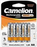 Camelion Rechargeable Batteries Ni-MH 4x AA (R06) 2500mAh + Battery case Baterija