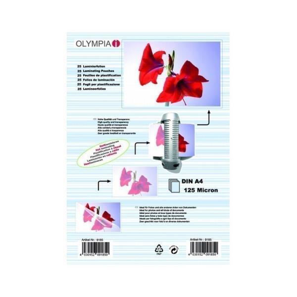 Olympia Papier, Folien, Etiketten DIN A4  25pc 80 mic laminators