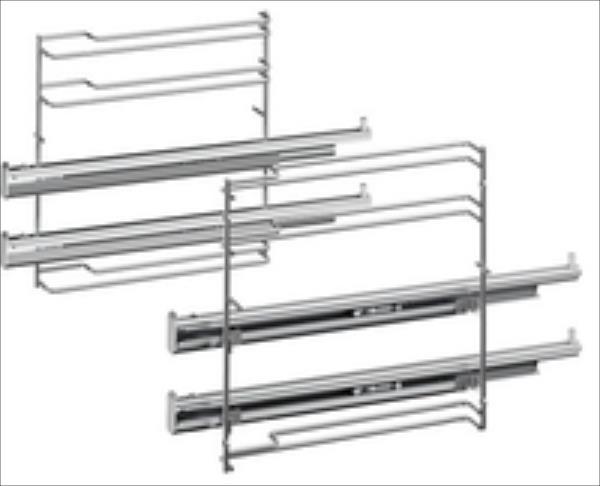 Bosch HEZ638200 2 level telescopic rails aksesuāri Mazās sadzīves tehnikas