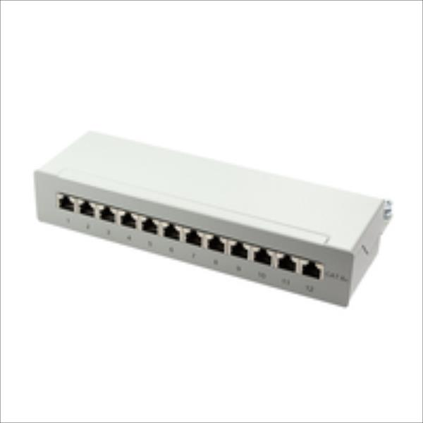LOGILINK- Patch Panel Desktop Cat.6A STP 12 ports, grey datortīklu aksesuārs