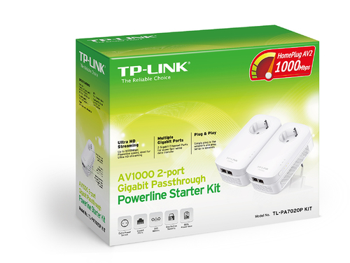 TP-LINK TL-PA7020P AV1000 Gigabit Powerline Adapter Kit Access point