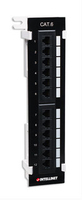 Intellinet Wall-mount patch panel 12 ports UTP Cat.6 black Serveru aksesuāri