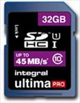Integral 16GB Ultima Pro SDHC 45MB/sec Class 10 High-Speed (UHS-1) atmiņas karte