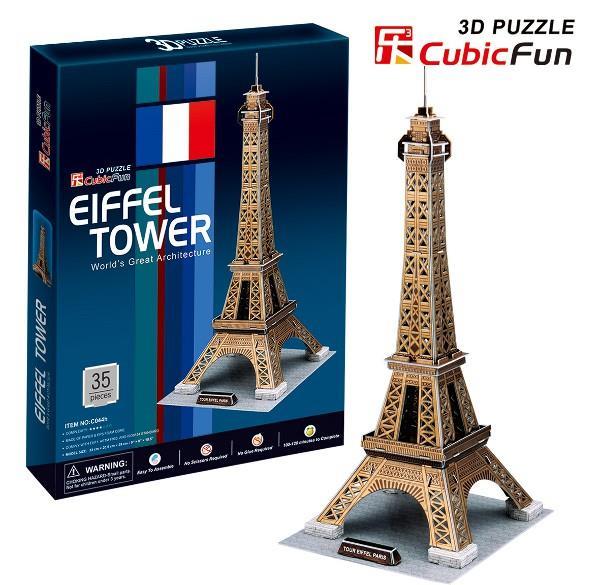 Cubicfun 3D PUZZLE Eifeļa tornis - C044H puzle, puzzle