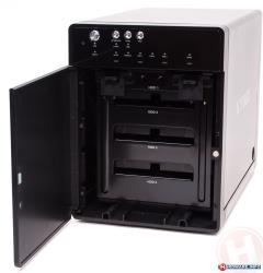 Icy Box External 4x3,5'' HDD case SATA to USB 3.0, eSATA, JBOD, Black cietā diska korpuss
