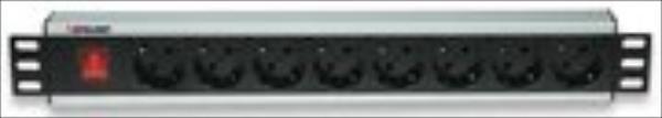 Intellinet BLACK surge strip rack 19'' 230V/10A 8xEURO 3m elektrības pagarinātājs